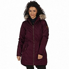 Regatta - Purple 'Lucetta' waterproof insulated jacket