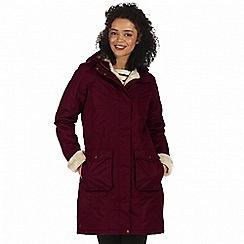 Regatta - Purple 'Roanstar' waterproof parka jacket