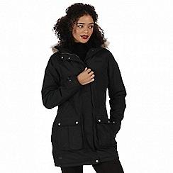 Regatta - Black 'Schima' waterproof parka jacket