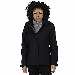 Regatta - Black 'Calyn' 3-in-1 waterproof jacket