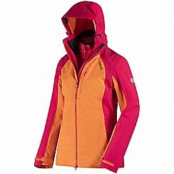 Regatta - Orange 'Carletta' 3-in-1 waterproof jacket
