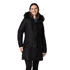 Regatta - Black 'Saffira' waterproof hooded parka