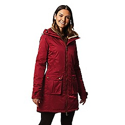 Regatta - Red 'Lucasta' waterproof hooded parka