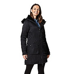 Regatta - Black 'Lucasta' waterproof hooded parka