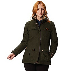 Regatta - Green 'Laureen' waterproof hooded jacket