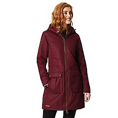 Regatta - Burgundy 'Romina' waterproof hooded parka