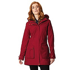 Regatta - Red 'Sherlyn' waterproof hooded parka