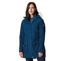 Regatta - Blue 'Sherlyn' waterproof hooded parka