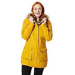 Regatta - Yellow 'Sherlyn' waterproof hooded parka