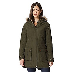 Regatta - Green 'Sherlyn' waterproof hooded parka