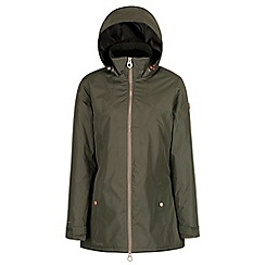 Regatta - Green 'Mylee' waterproof hooded jacket