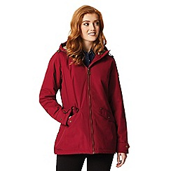 Regatta - Red 'Bergonia' waterproof hooded mac