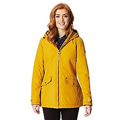 Regatta - Yellow 'Bergonia' waterproof hooded mac