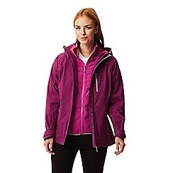 Regatta - Purple 'Louisiana' waterproof 3 in 1 jacket