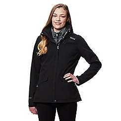 Regatta - Black 'Calyn' 3 in 1 waterproof jacket