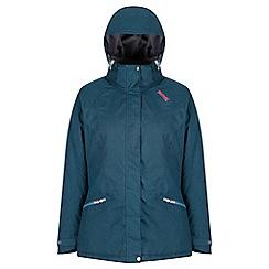 Regatta - Blue 'High side' waterproof hooded jacket