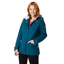 Regatta - Blue 'High side' waterproof hooded jacket