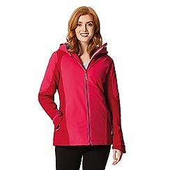 Regatta - Pink 'Corvelle' waterproof hooded jacket