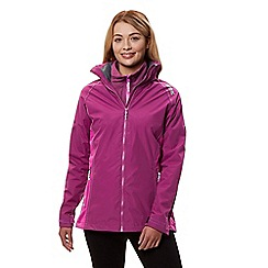 Regatta - Purple 'Premilla' 3 in 1 waterproof jacket