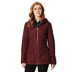 Regatta - Burgundy 'Bechette' waterproof hooded jacket