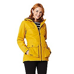 Regatta - Yellow 'Bechette' waterproof hooded jacket