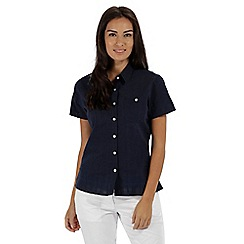 Regatta - Navy 'Jerbra' short sleeved shirt