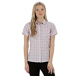 Regatta - Purple 'Mindano' short sleeved shirt
