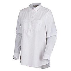Regatta - White 'Farida' cotton long sleeved top