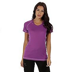 Regatta - Purple 'Volito' technical t-shirt