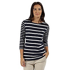 Regatta - Blue 'Parris' striped cotton top