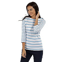 Regatta - White 'Parris' striped cotton top