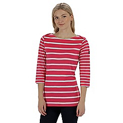 Regatta - Pink 'Parris' striped cotton top