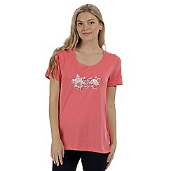 Regatta - Pink 'Filandra' cotton print t-shirt