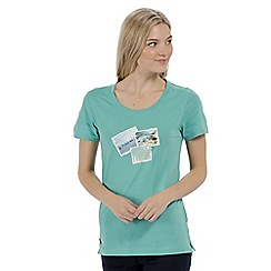 Regatta - Blue 'Filandra' cotton print t-shirt
