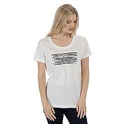 Regatta - White 'Filandra' cotton print t-shirt
