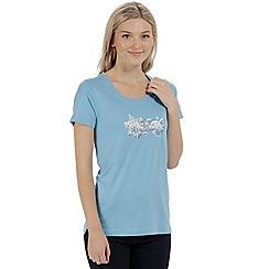Regatta - Blue 'Filandra' cotton print t-shirt