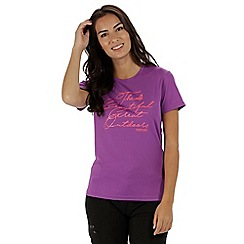 Regatta - Purple 'Fingal' print t-shirt