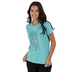 Regatta - Blue 'Fingal' print t-shirt