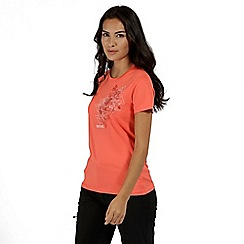 Regatta - Orange 'Fingal' print t-shirt