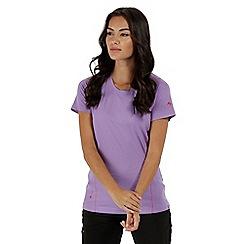 Regatta - Purple 'Virda' technical t-shirt