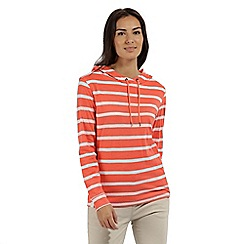 Regatta - Orange 'Modesta' striped jersey top
