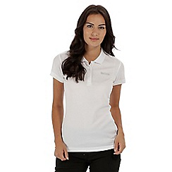 Regatta - White 'Maverick' polo shirt