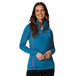 Regatta - Blue 'Yonder' zip neck top