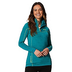 Regatta - Blue 'Yonder' zip neck top