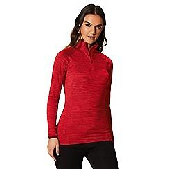 Regatta - Red 'Yonder' zip neck top