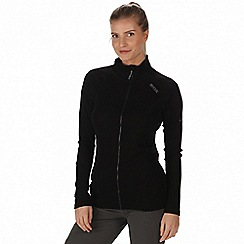 Regatta - Black 'Tunkin' zip through base layer top