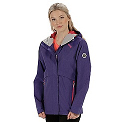 Regatta - Purple 'Semita' waterproof jacket