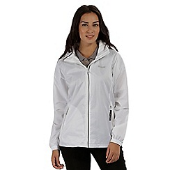 Regatta - White 'Corinne' waterproof packaway jacket