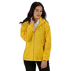 Regatta - Yellow 'Corinne' waterproof packaway jacket