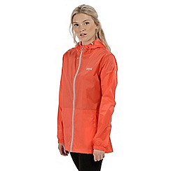 Regatta - Dark peach 'pack it' waterproof jacket